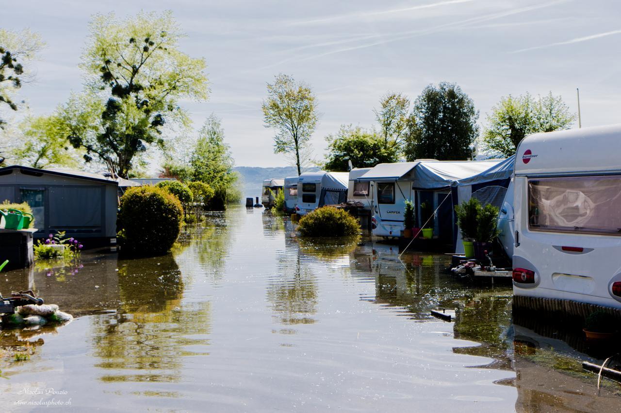 crue du lac de Neuchâtel, mai 2015