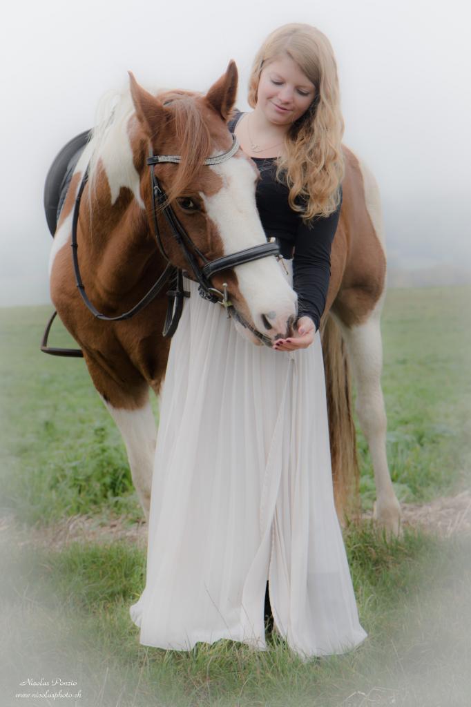 Stéphanie et son cheval