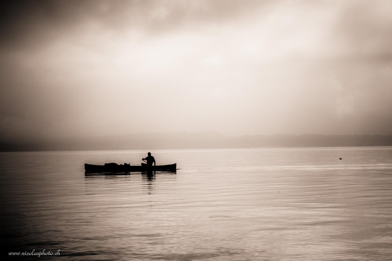 sur le lac de Neuchâtel